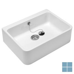 V&b o.novo keukenspoelbak keram. b495×h170×d400mm, + overl., wit alpin ceramic+ | 632100R1 | LAMO