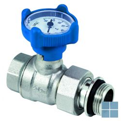 "Rbm kogelkraan nilo mf 4/4"" + thermometer blauw | 670680 | LAMO"