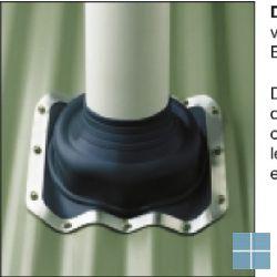Ubbink flexup soker voor ideplaten 5 cm opstand 456x456 voor pijp 150-300 | 702782 | LAMO