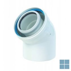Ubbink concentrische bocht 45° pp/metaal dia 80/125 | 702870 | LAMO