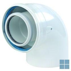 Ubbink concentrische bocht 90° pp/metaal dia 80/125 | 702871 | LAMO