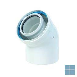 Ubbink concentrische bocht 45° pp/alu dia 60/100 | 703620 | LAMO