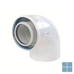 Ubbink concentrische bocht 90° pp/alu dia 60/100 | 703621 | LAMO