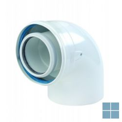 Ubbink concentrische bocht 90° pp/alu dia 80/125 | 704062 | LAMO