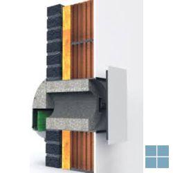 Duco silenzio zr ak muurrooster 36.4 m³/h bij 2 Pa extra geluiddempend | 7372-4055 | LAMO