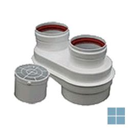 Bosch draaibare collector Ø 80/110 naar 2x80 mm az 298 | 7719001957 | LAMO