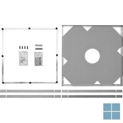Dur. duraplan inbouwset voor douchetub 100x100 cm | 790143000000000 | LAMO