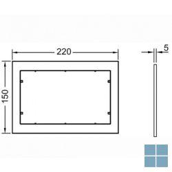 Tecenow afstandhouder wit voor vlakke inbouw | 9240410 | LAMO