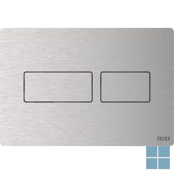 Tecesolid duwplaat wc rvs, duospoeltechniek, b220xh150xd6mm, rvs geborsteld   9240430   LAMO