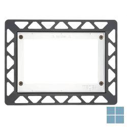 Teceloop inbouwraam voor vlakke montage zwart | 9240647 | LAMO