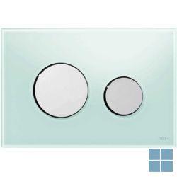 Teceloop duwplaat glas mintgroen , toetsen glanzend chroom | 9240653 | LAMO