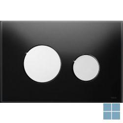 Teceloop duwplaat glas zwart , toetsen glanzend chroo | 9240656 | LAMO