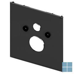 Tecelux bevestigingsglasplaat voor standaard wc glas zwart | 9650105 | LAMO