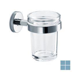 Inda gealuna bekerhouder wand chroom/helder glas | A1010ACR03 | LAMO