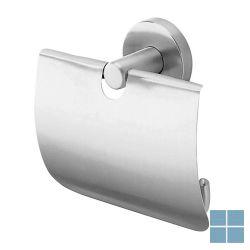 Inda inox toiletrolhouder met klep rvs geborsteld | A14260NS | LAMO