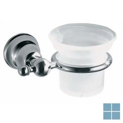 Inda raffaella bekerhouder chroom/mat glas | A32100CR21 | LAMO