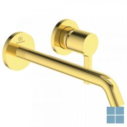 Is joy afbouw wndmngkrn 5l/min, uitl. l180mm, 2 roz. ø 65mm, goud geborsteld | A7379A2 | LAMO