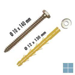 Arymex 4 pluggen , ringschroeven , ringen dia 12x130 mm | A853035 | LAMO