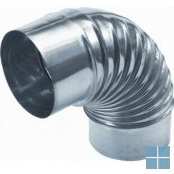Afvoerbocht 90° alu dia 150 mm buab999150 | AC150 | LAMO