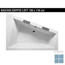 Riho doppio inbouwbad duo links 180x130 cm wit | BA91 | LAMO