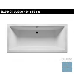 Riho lusso inbouwbad duo 180x80 cm wit | BA98 | LAMO