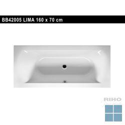 Riho lima inbouwbad duo 160x70 cm wit | BB42 | LAMO