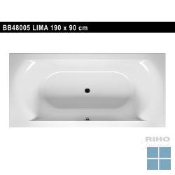 Riho lima inbouwbad duo 190x90 cm wit | BB48 | LAMO
