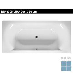 Riho lima inbouwbad duo 200x90 cm wit | BB49 | LAMO