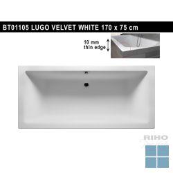 Riho lugo inbouwbad duo 170x75 cm velvet white/mat wit | BT01105 | LAMO