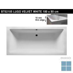 Riho lugo inbouwbad duo 180x80 cm velvet white/ wit mat | BT02105 | LAMO