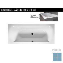 Riho linares inbouwbad duo 150x70 cm wit | BT40 | LAMO