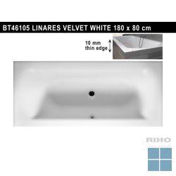 Riho linares inbouwbad duo 180x80 cm velvet white/mat wit | BT46105 | LAMO