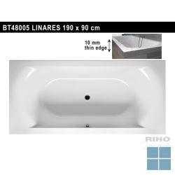 Riho linares inbouw bad acryl hgglns wit, duo 190x90cm/240l, excl. poten & sifon | BT48005 | LAMO