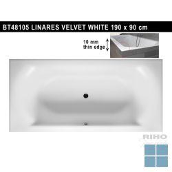 Riho linares inbouwbad duo 190x90 cm velvet white/mat wit | BT48105 | LAMO
