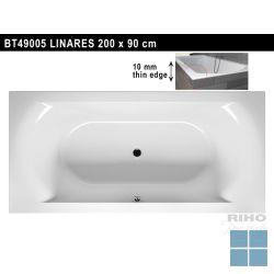 Riho linares inbouwbad duo 200x90 cm wit | BT49 | LAMO