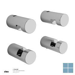 Clou hold me spiegelklemmen rond 4 stuks chroom | CL080100129 | LAMO