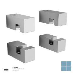 Clou hold me spiegelklemmen 4 stuks vierkant chroom | CL080100229 | LAMO