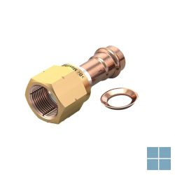 Lm airco koper pers maxipro herbruikbare flare koppeling 1/4 mf wartel+kop.ring | CMP-2045 | LAMO