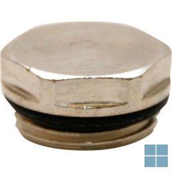 Watts chrome radiatorstop met dichting 1/2 m | CS12 | LAMO