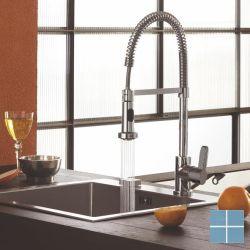 Kvr techno keukenmengkraan sproeier op spiraal chroom | D10.2550.21 | LAMO