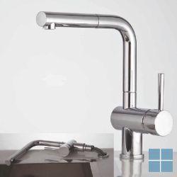 Kvr techno keukenmengkraan venster uittrekb. uitloop chroom | D10.3353.21 | LAMO