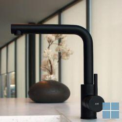Kvr techno keukenmengkraan mat zwart | D10.3700.83 | LAMO