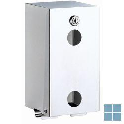 Delabie toiletpapierverdeler 2 rollen 130x120x260mm glanzend gepolijst   DEL1660   LAMO