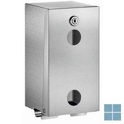 Delabie toiletpapierverdeler voor 2 rollen 130x120x260mm mat gepolijst   DEL1660S   LAMO