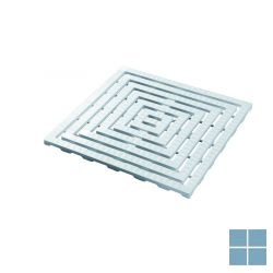 Delabie antislip roostermat 570x570mm wit kunststof | DEL447 | LAMO