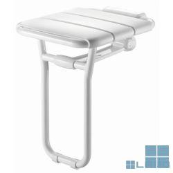 Delabie douchezitje opklapbaar met voet alu wit (os) | DEL510400 | LAMO