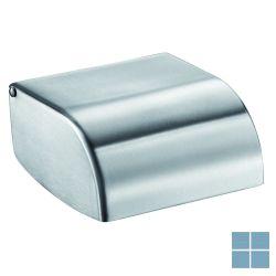 Delabie toiletpapierhouder met monoblok deksel mat gepolijst | DEL510567 | LAMO