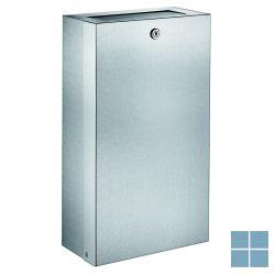 Delabie afvalbakje muur 16 liter 130x275x475mm mat gepolijst | DEL6617 | LAMO