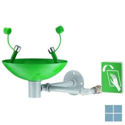 Delabie oogdouche op wastafel wand manuele bediening groen/ wit   DEL9102   LAMO