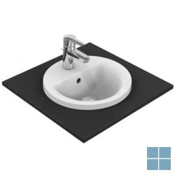 Is connect inbouw , 1 kraangat rond 38 cm wit keramiek | E505101 | LAMO